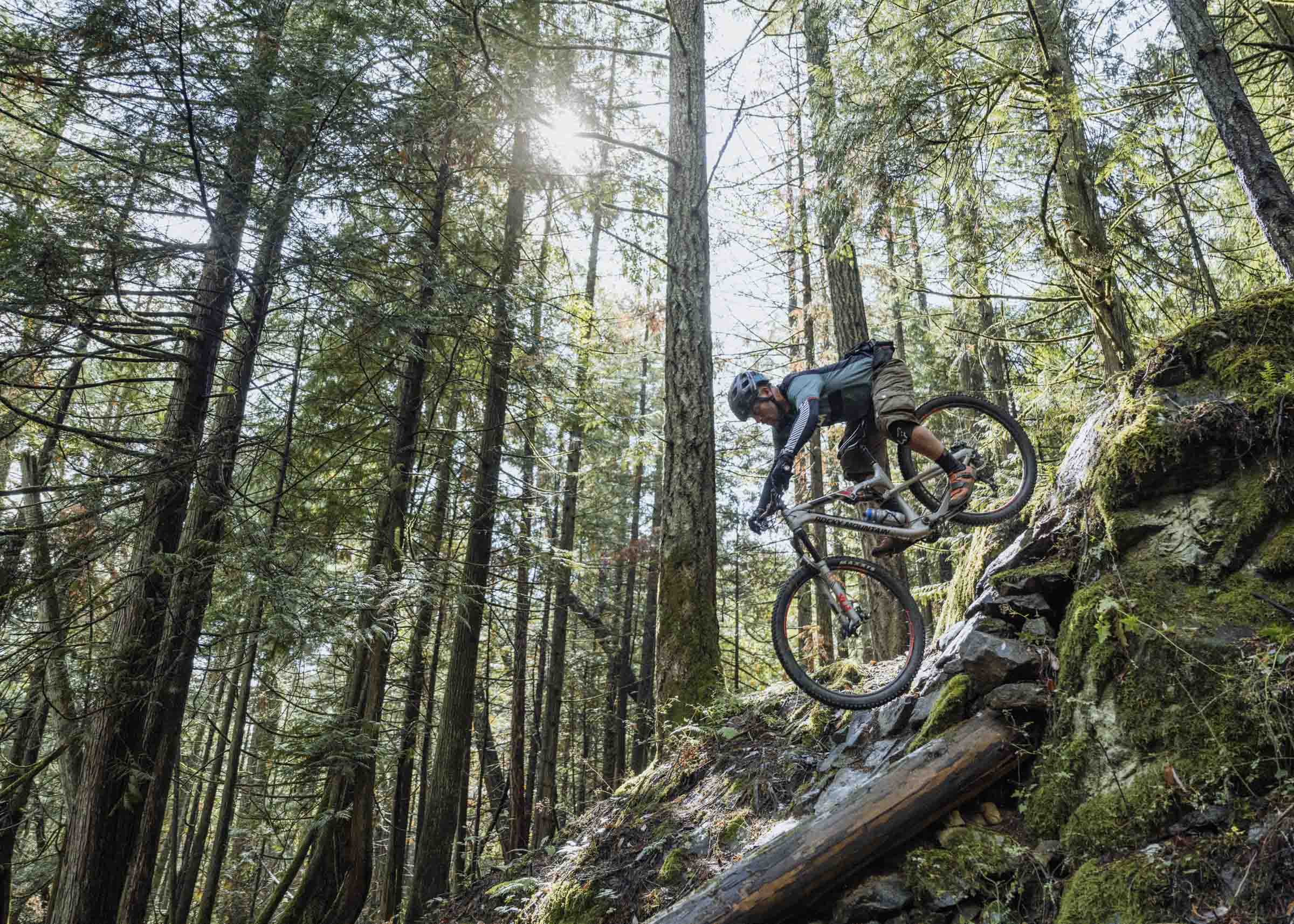 Huge rock drops for a mountain bike at Mt Work