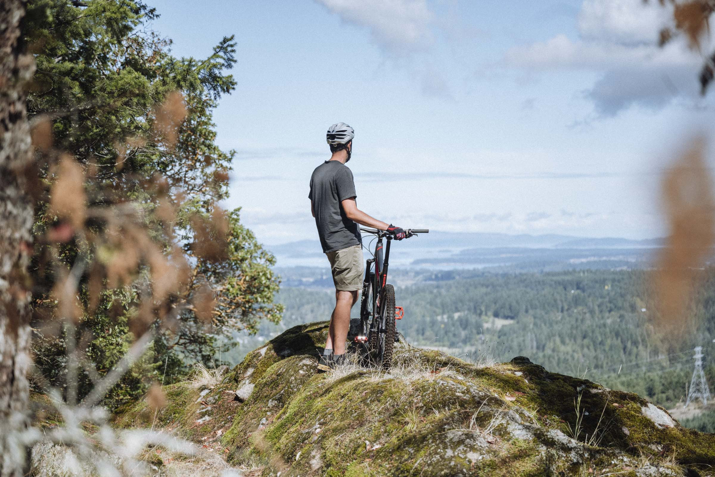 Enjoying the views over Vancouver Island and the Gulf Islands from Mt Work